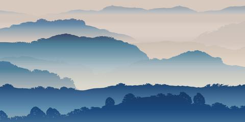 Krajobraz gór mgły