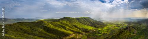Fototapeta Landscape from a view point in Lalibela
