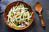 Jicama salad, overhead view