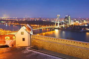 River Danube in the center of Bratislava, Slovakia.