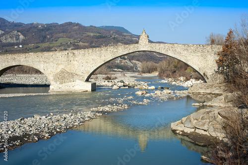 Poster Ponte Vecchio, Bobbio, Italia