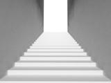 Białe schody - perspektywa