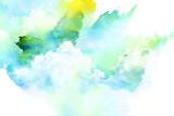 Watercolor illustration of cloud. - 99502169