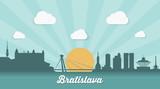 Bratislava skyline - flat design