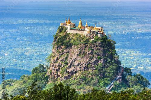 Poster Mt. Popa, Mandalay Division, Myanmar.