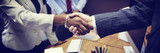 Fototapety Business People Handshake Greeting Deal Concept