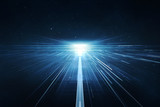 Abstract lens flare space or time travel concept background - 99620908