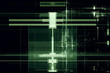 Abstract digital matrix background