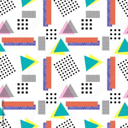 Memphis style pattern - 99627930