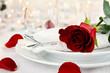 Obrazy na płótnie, fototapety, zdjęcia, fotoobrazy drukowane : Romantic Candlelite Table Setting