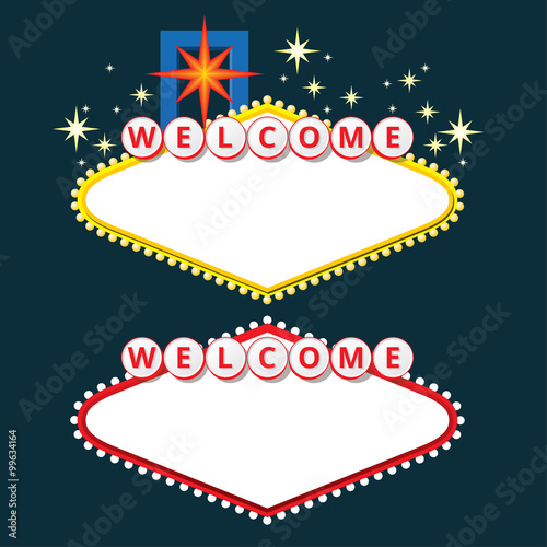 Poster Welcome sign design elements