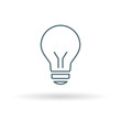 Halogen lightbulb icon. Light bulb sign. Light electricity symbol. Thin line icon on white background. Vector illustration.