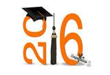 black graduation cap and tassel for 2016