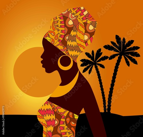 tropische-landschaft-schone-schwarze-frau-afrikanische-frau
