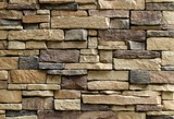 Horizontal Texture of The Asymmetrical Stones Wall