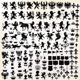 Vector set of vintage heraldic elements for design - 99664195