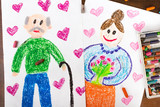 Colorful drawinsg: grandparents day cards - 99667133