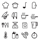 Fototapety Cooking icons set