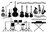 Fototapety Set musical instruments