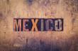 Mexico Concept Wooden Letterpress Type