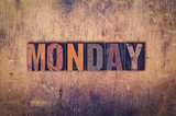 Monday Concept Wooden Letterpress Type