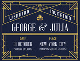 Gatsby Style Invitation in Art Deco or Nouveau Epoch 1920