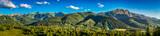 Fototapety Panorama of sunset in Tatra mountains in Zakopane, Poland