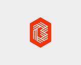 Letter B logo icon vector design. Creative line symbol.