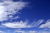 Cirrus clouds in blue sky background