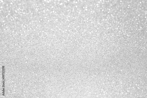 Naklejka biały srebrny brokat bokeh tekstury Boże Narodzenie abstrakcyjne tło