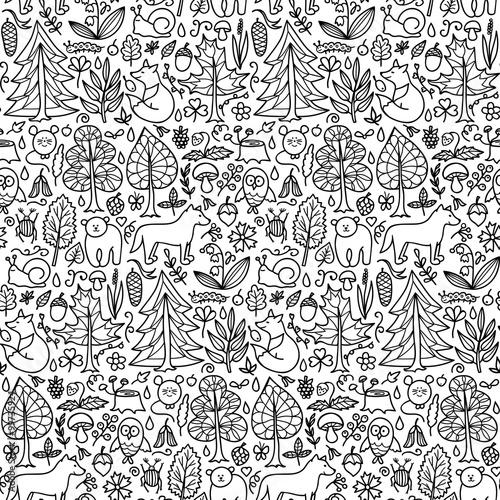 Fototapeta Forest seamless pattern