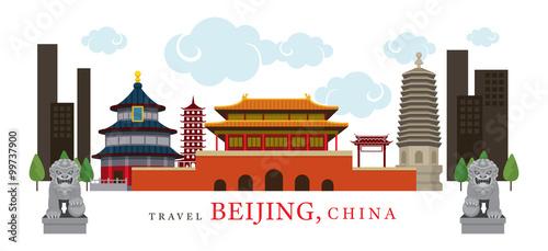 Fototapeta Travel Beijing, China, Destination, Attraction, Traditional Culture