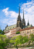 Cathedral of Saints Peter and Paul, Petrov, town Brno, Moravia, Czech republic