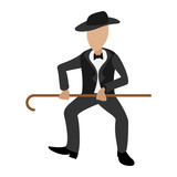 Tap dancer cartoon illustration