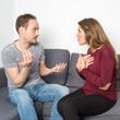 Leinwanddruck Bild - Ein Paar streitet sich