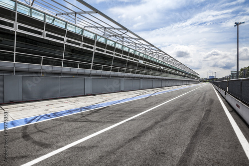 Fotobehang F1 Boxengasse