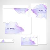 Watercolor card with Purple flower petal - 99779382