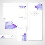 Watercolor card with Purple flower petal - 99779387
