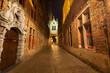 Obrazy na płótnie, fototapety, zdjęcia, fotoobrazy drukowane : Nigth view of Blinde Ezelstrat., popular alley in Bruges, Belgium