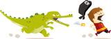 Fototapety crocodile poursuite