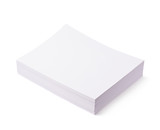 Pile of office paper sheets isolated