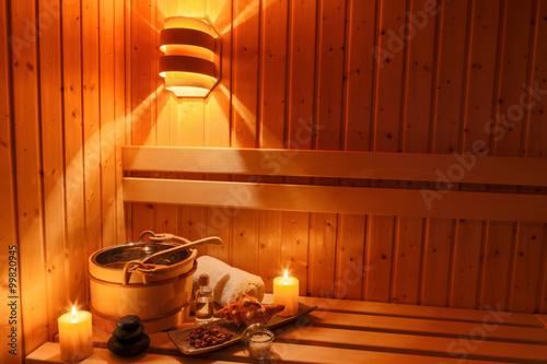 Foto op Plexiglas Ontspanning Wellness und Spa in der Sauna