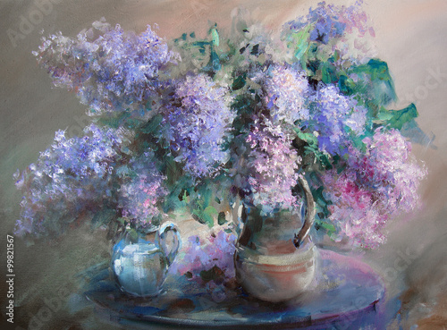 Fototapeta Lilac painting