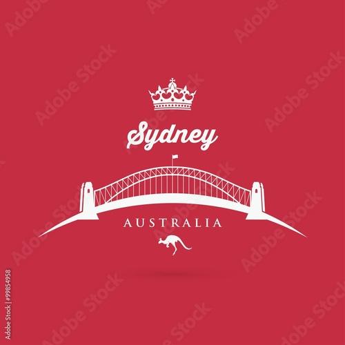 Poster Sydney - Bridge symbol