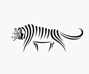 Abstract tiger illustration