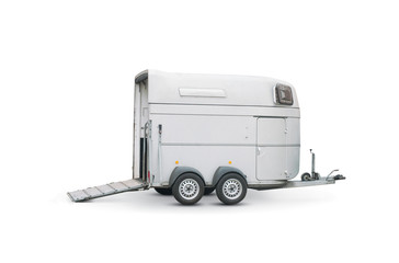 horse trailer isolated over a white background