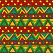Triangular geometric pattern in ethnic style with folk motifs