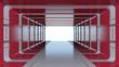 Futuristic red tunnel