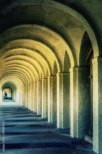 Fototapeta Mystic Ancient Stone Corridor Rome