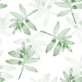 Branches. Watercolor background. Seamless pattern 1